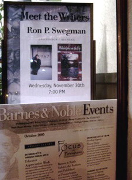 MEET THE WRITERS Poster, Barnes & Noble, Rittenhouse Square, Philadelphia, November, 2005